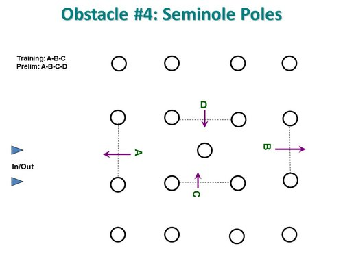 Obstacle 4 - Seminole Poles