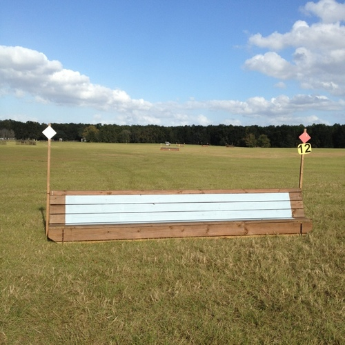 Fence 12 - Bench with bright blue