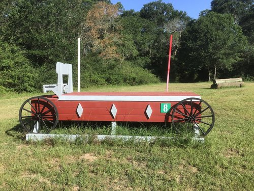 Fence 8 - Red Wagon