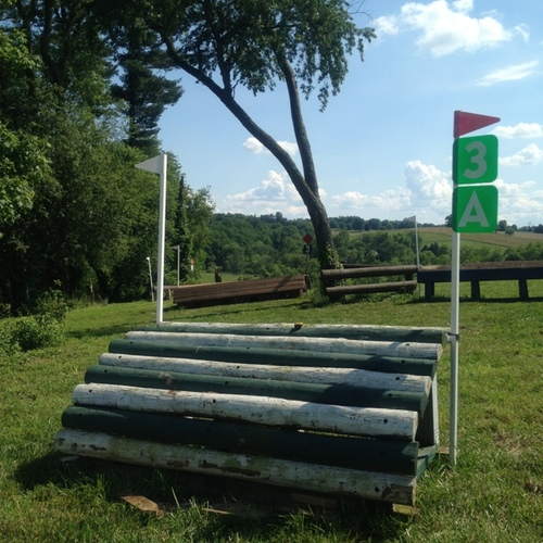 Fence 3 - Green & White Ramp