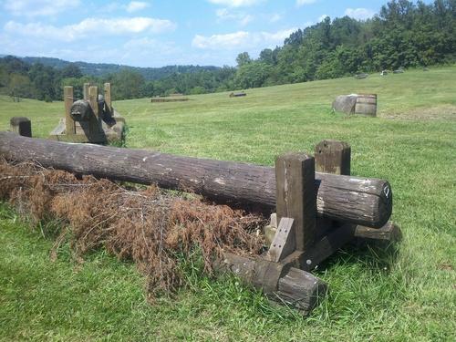 Fence 14 - Straw log