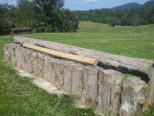 Fence 8 - Upright Logs