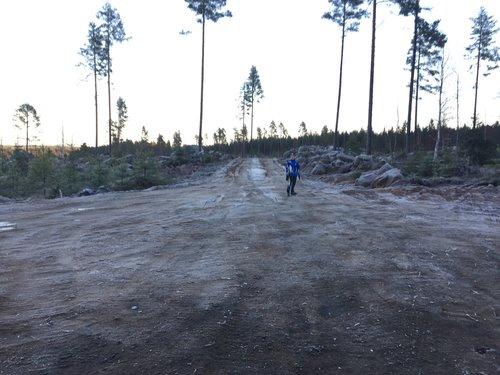 Hindernis 8 - Vändplanen och nyvägen ner mot gamla Åbo över stenåsen
