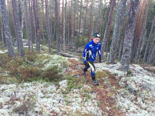 Hindernis 10 - Upp mot Venåsberget längs lillstigen över hällar med vitmossa