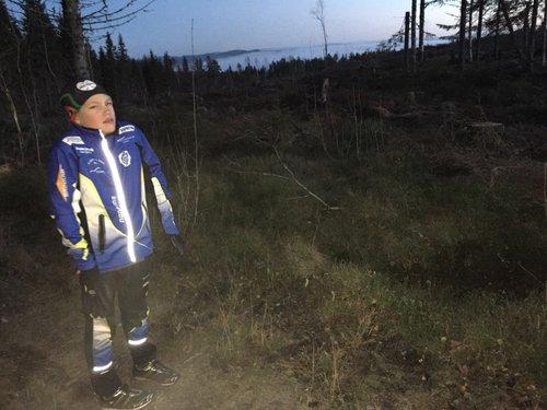 Hindernis 26 - Nyavverkning längs valleden och Ingemar börjar frysa