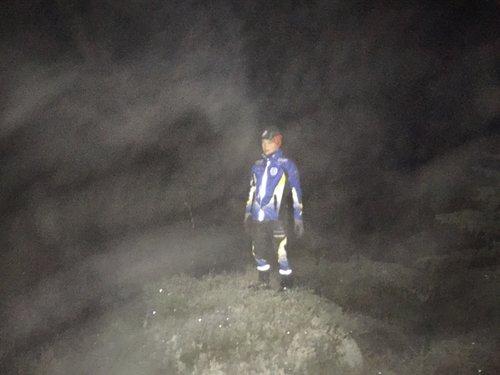 Hindernis 29 - Nu blev det nattsvart men värmen kom tillbaka efter språngmarschen på skogsbilvägarna